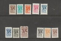 Poland Revenue Fiscal MN-16 smaller size worker's tax  14-Stamps 2-scans