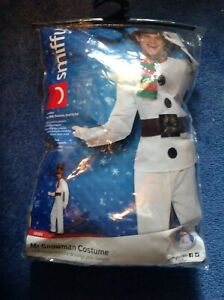 Adult Mr Snowman Costume Mens Christmas Fancy Dress Outfit Xmas Party Outfit New