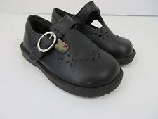 Smartfit Toddler T Strap Mary Janes Black Leather Eyelet Details Size 6.5 #698
