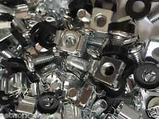 """100 Pack Cage Rack Nuts and Bolts M6 19"""" Rack Mounts"""