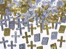 Metallic Konfetti - Kreuze - Bibeln - für Kommunion , Konfirmation , Taufe
