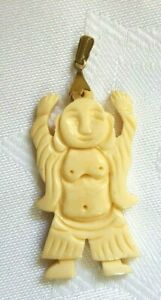 pendant dancing Buddha figurine Made of bone Southeast Asia