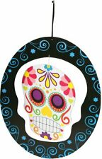 Day Of Dead Mobile Skull Spinner Multi Colored Scary Halloween Decoration