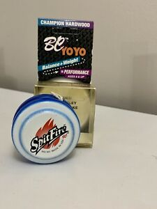 Champion Hardwood BC YO-YO SPITFIRE WHITE And BLUE Fixed Axle NEW