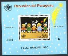 PARAGUAY - CHRISTMAS Mi # Bl 355 A, MNH
