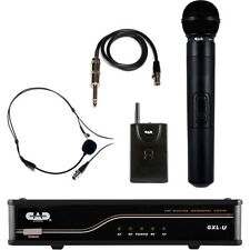 CAD GXLUHBK UHF Dual Channel Handheld & Bodypack Wireless Microphone System NEW