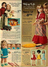 1974 ADVERTISEMENT Doll Life Size Jannette Cathy Quick Curl Wendy Baby Sunshine
