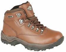 Ladies Womens Ankle Boots Lace Up Leather Hiking Walking Trail Waterproof Shoes