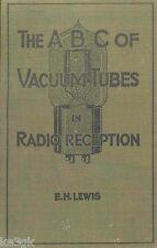 ABC of Vacuum Tubes in Radio Reception * CDROM * PDF