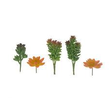 Artificial Green and Orange Succulent Picks, 5-Piece