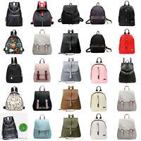 Women Girl Backpack Travel PU Leather Handbag Lady Rucksack Shoulder School Bag