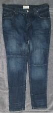 FREE PEOPLE BLUE JEANS SIZE 28 BUTTON FLY PATCHES CROPPED FREE SHIPPING!!!