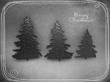 3 x Christmas Tree,s Cutting Die Stencil,Craft,Card Making,Scrapbooking,Metal