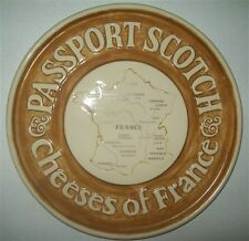 PASSPORT SCOTCH CHEESES OF FRANCE CERAMIC PLATE PLAQUE