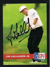 Jim Gallagher Jr #70 signed autograph auto 1992 Pro Set Golf Trading Card