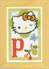 Vervaco  0149554  Kit  Alphabet © Hello Kitty - Lettre P  Point de Croix  Compté