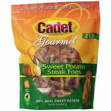 Cadet Gourmet Sweet Potato Steak Fries 2lb Bag Chews Natural Dog Treats #01387
