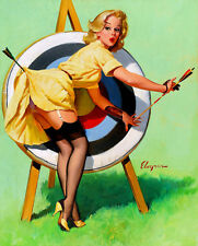 Vintage Pinup Girl A4 Canvas Art Print Gil Elvgren