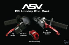 ASV Holiday Brake+Pro Clutch Lever Yamaha YFZ450R Red