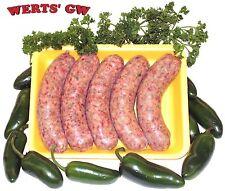 5 lb. Hot Brats-80% Lean Pork Jalapeno Brat/Bratwurst-Processed in Nebraska