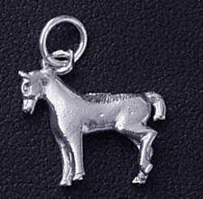 LOOK Mule Donkey JackAss .925 Sterling Silver Charm Burro 3D
