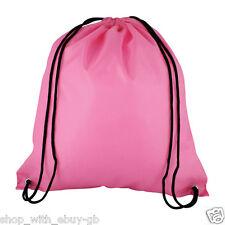 1 Rosa Nylon cordón Mochila-Para Niños Gym Mochila Escolar-Hen party botín Bolsa