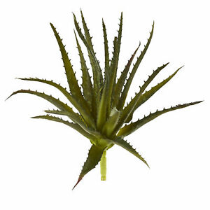 """Aloe Pick Artificial Plant Green Realistic Decor Nearly Natural 10"""" Set Of 6"""