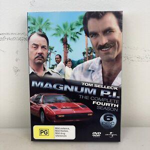 Magnum P.I The Complete 4th Season Region 2,4,5 VGC + Free Postage
