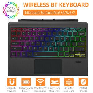 RGB 7 Farben Ultraleicht Bluetooth-Tastatur für Microsoft Surface Pro 7/6/5/4/3