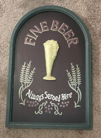 Large 3D Beer Sign Bar Pub Hanging Served Here Classic Vintage Design Tavern