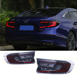 For Honda Accord Tail Lights Assembly 2018-2021 Black Color ALL LED Rear Lamps