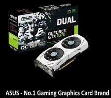 Graphic Card ASUS GeForce GTX 1070 Dual OC 8GB GDDR5 VR 4K gaming ON WARRANTY