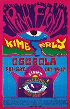 Pink Floyd Oct 16 - Concert VINTAGE BAND POSTERS  Rock Travel Old Advert #ob