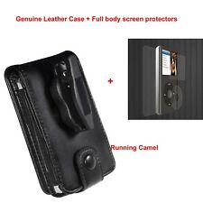 Genuine Leather Case Cover for Apple iPod Classic 80gb 120gb 160gb Holder +Films