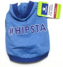 """New with Tags!! Top Paw Blue """"#Hipsta"""" Dog Hoodie Shirt - Size Large"""