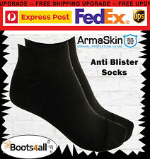 Anti BLISTER Ankle Socks Armaskin Work Running Hiking Travel BOOTS Black Large Shoe Size 10