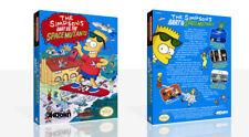 The Simpsons Bart Vs. die Space Mutants Nes Spiel Schutzhülle Packung + Kunst