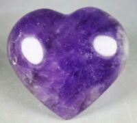 Collection ! Marvelous Unique Purple Amethyst Chevron Pebble Reiki Heart Stone