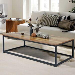 Tavolino Divano Salotto Rettangolare Design Moderno Industriale Legno MDF Scuro