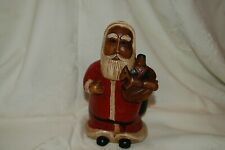 Vintage Wood Carved St Nicholas Santa Claus Folk Art 8'