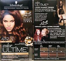 2 Boxes Schwarzkopf Color Ultime 4.82 Dark Mahogany Brown Permanent Hair Dye