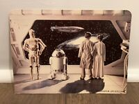 STAR WARS DISPLAY ARENA BACKDROP LUKE C9 MAIL AWAY ESB KENNER VINTAGE 1981