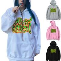 Billie Eilish Cotton Hoodie Sweatshirt Men Women Pullover Sweater Jumper Rap Top