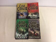 Clive Cussler Novels x4 - Black Wind, Trojan Odyssey, The Chase, Golden Buddha