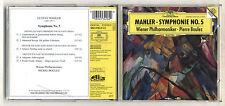 Cd Gustav MAHLER SYMPHONY No 5 Symphonie PIERRE BOULEZ Wiener Philharmoniker