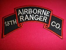 Korea War (1950-53) Scroll Patch 13th Airborne Ranger Infantry Company