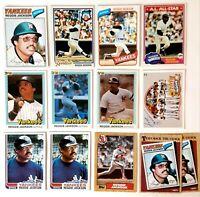 1977 Topps #10 Reggie Jackson New York Yankees HOF Lot of (14) 1978 1981 Donruss
