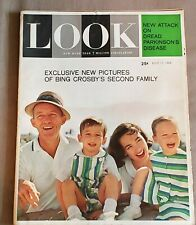 LOOK MAGAZINE JULY 17 1962 BING CROSBY & SECOND FAMILY