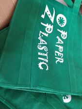 """17"""" W X 14"""" H X 9"""" Large Size Reusable Grocery shopping Bags,Heavy Duty(12 pecs)"""