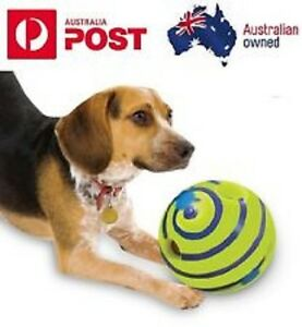 Wobble Wag Giggle Ball Dog Doggy Indoor Outdoor Pet Toy Rolling Shaken w Sound